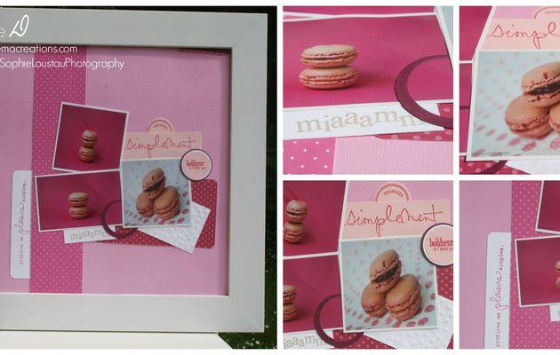Page de scrap : les macarons de Sophie Loustau Photography