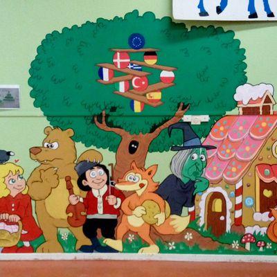 Fresque Ecole Maternelle Vedène ERASMUS