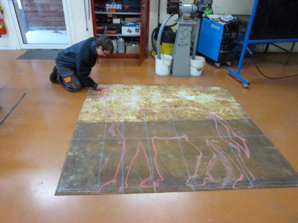 Nous fabriquons un âne à l'atelier fer.