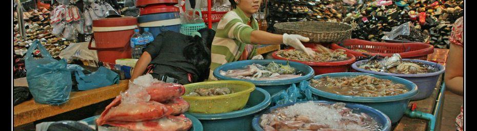 Le marché Russe de Phnom Penh