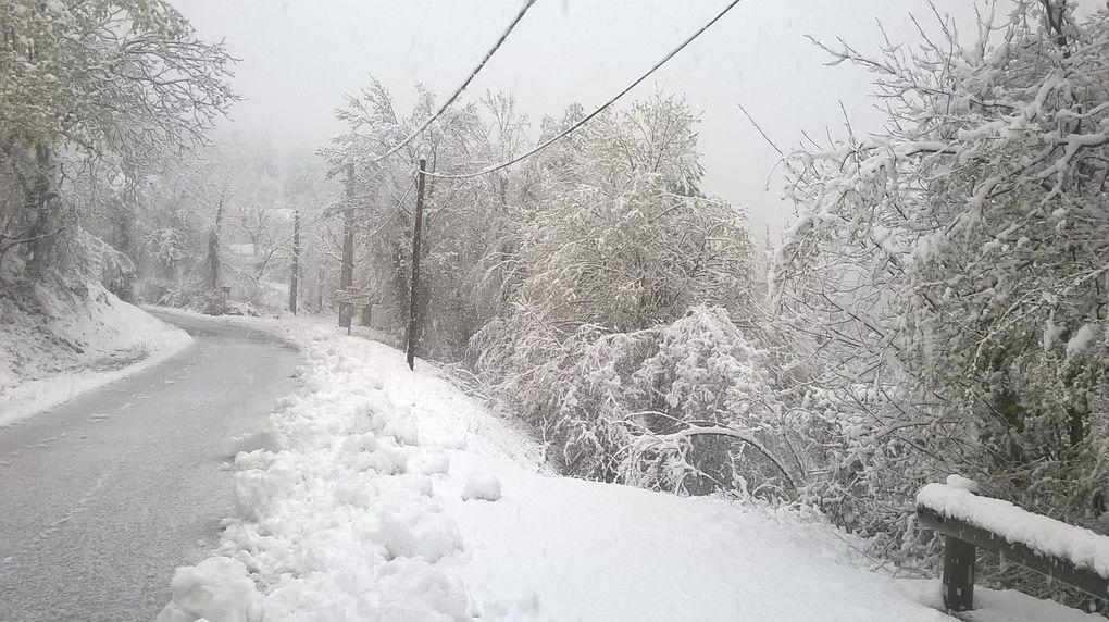 Val de Chalvagne il neigeait ce 12 Avril