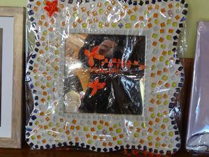 les lots de la tombola, confectionnés et offerts par notre artiste Irène, membre du Conseil d'Administration de l'Association