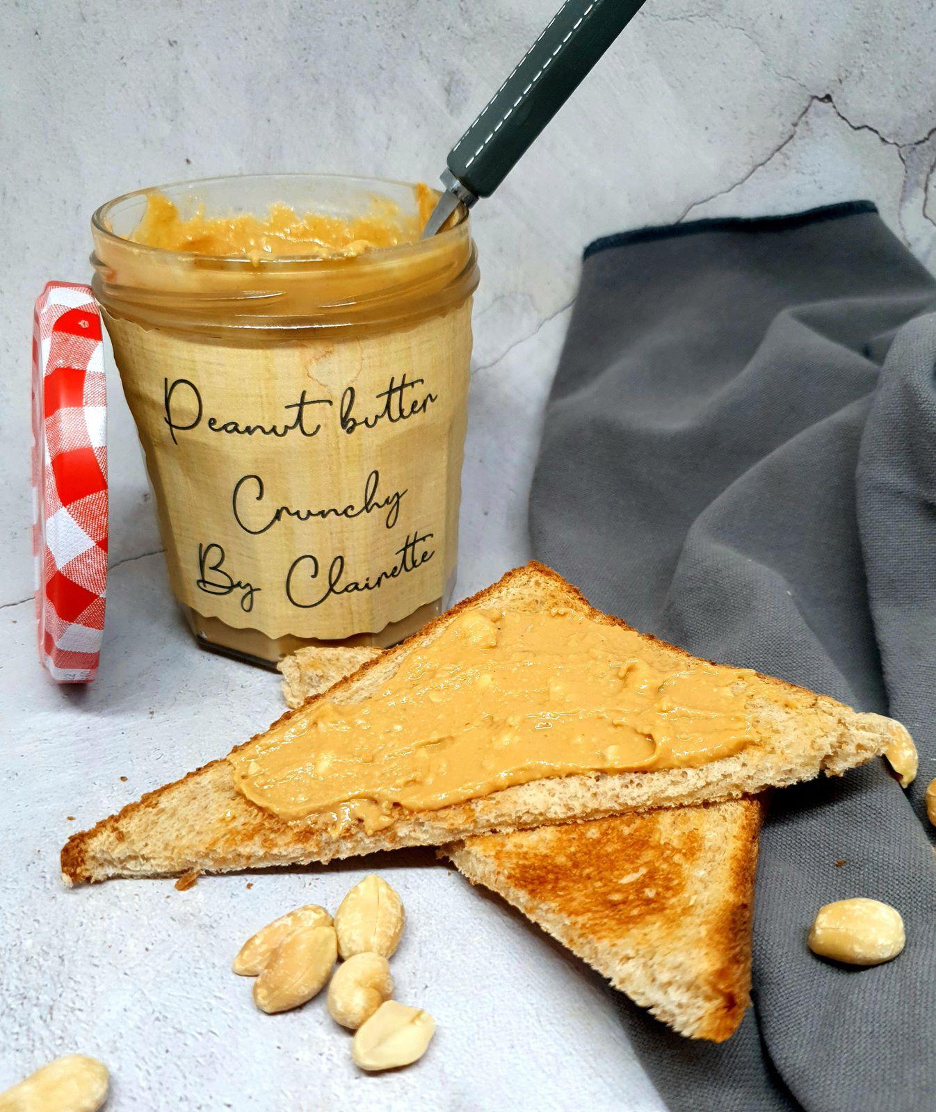 Beurre de cacahuètes crunchy !