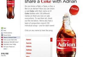 Bluffant : Ta bouteille de Coca Cola avec ton prénom !!!