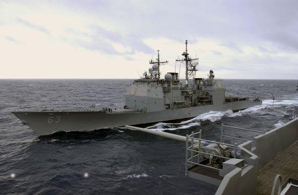 Une collision évitée entre un croiseur américain et un navire chinois