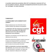 Le Syndicat National des Journalistes CGT et laFédération CGT des Cheminots s'insurgent contre la cabale anti-cheminots !