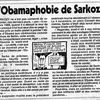Sarkozy's Obamaphobia
