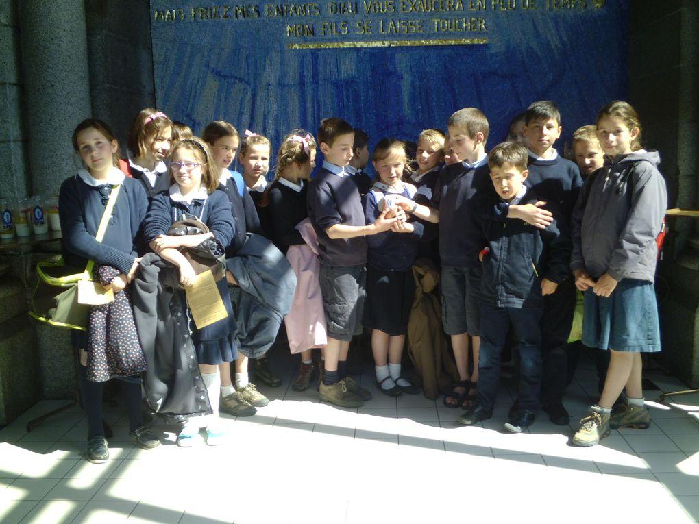 Pèlerinage de l'école à Pontmain en mai 2013