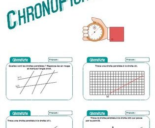 Chronofiches : rituel droites parallèles -CM1-CM2