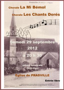 Chorale du 29 septembre 2012