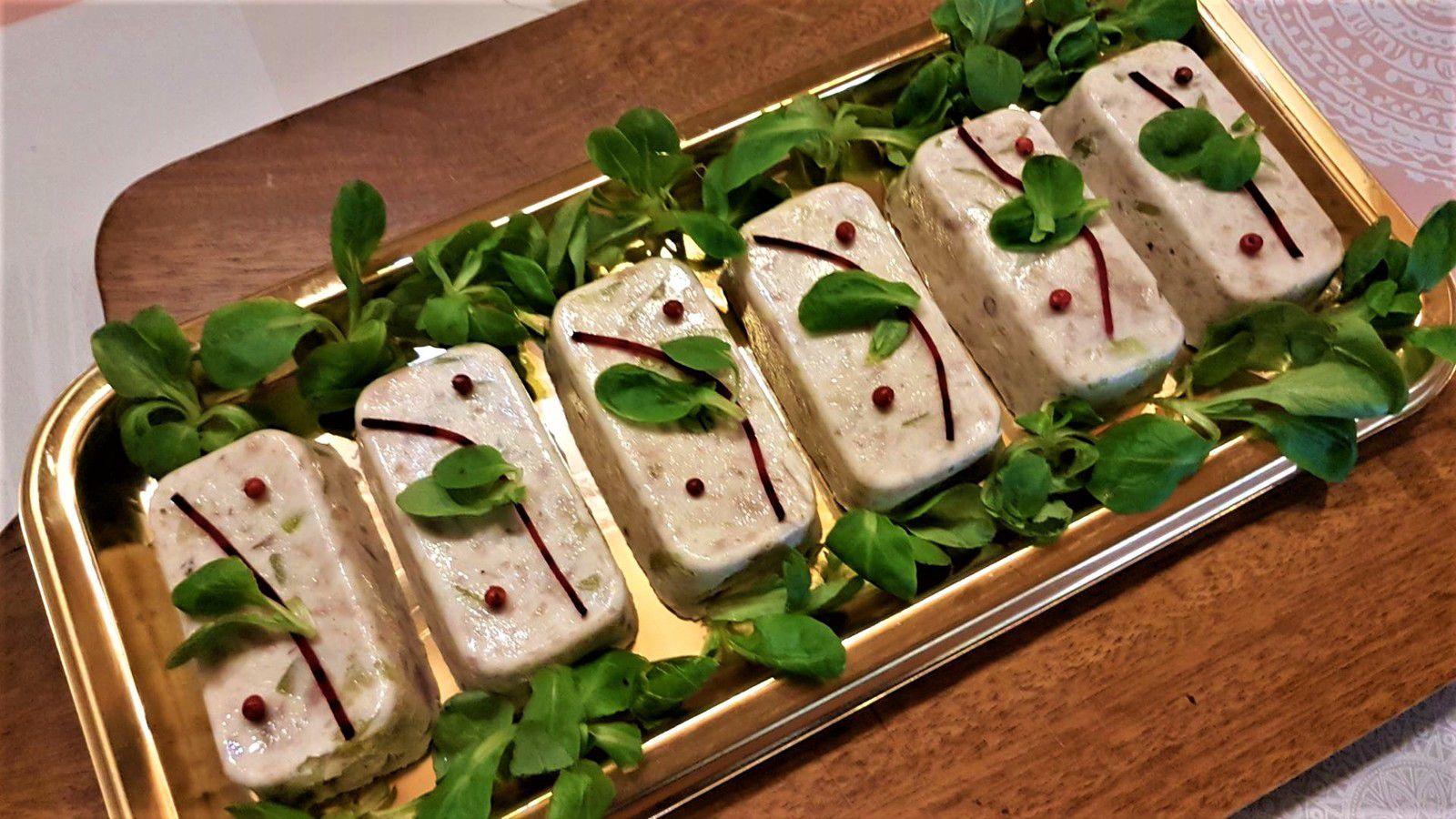 petites terrines de thon aux courgettes et fromage de chèvre