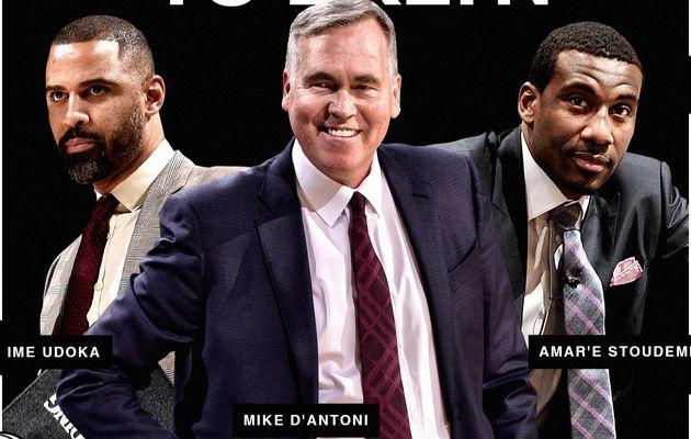 Mike D'Antoni, Amar'e Stoudemire et Ime Udoka rejoignent Steve Nash sur le banc des Brooklyn Nets