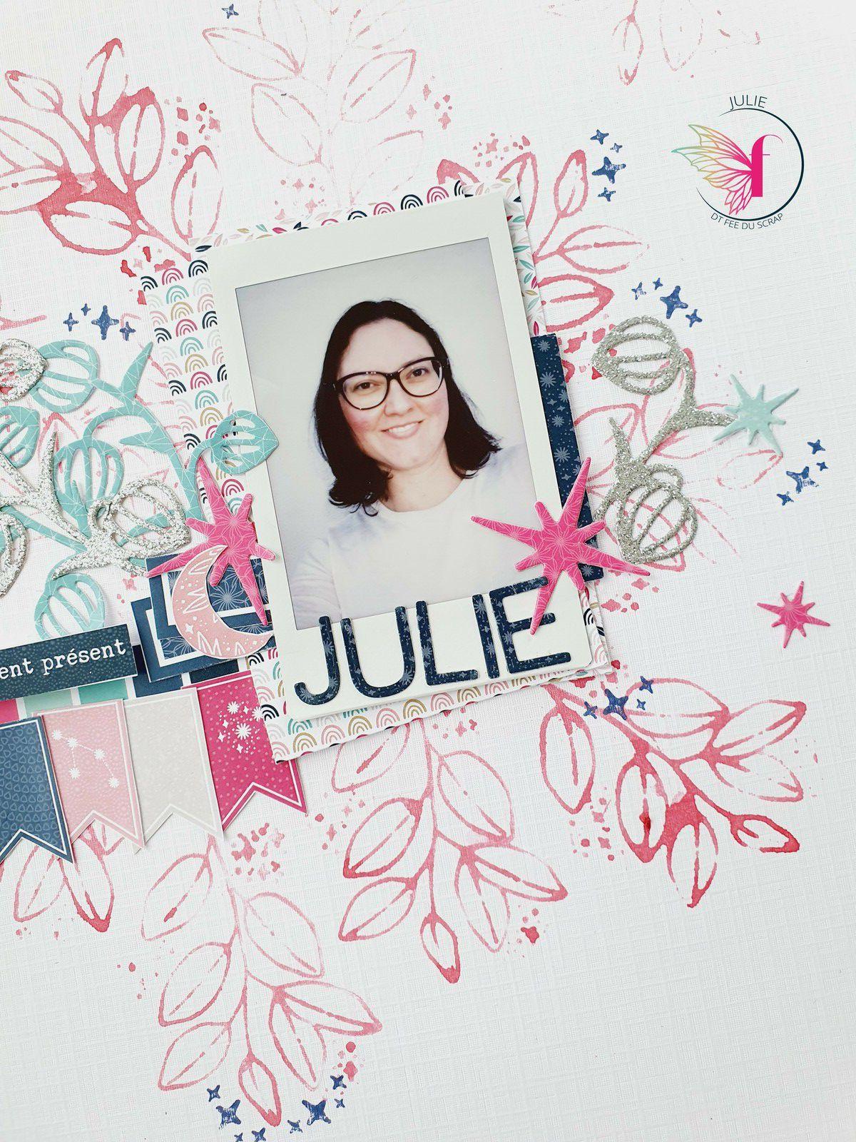 Julie - Tampons transparents & aquarelle
