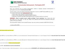 Communication INTERESSEMENT / PARTCIPATION