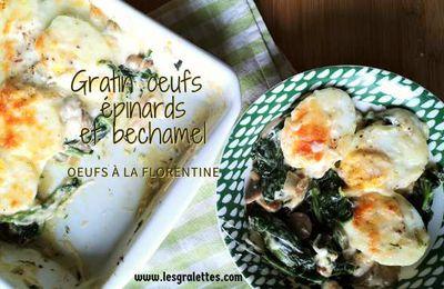 Oeufs à la florentine, épinards et bechamel