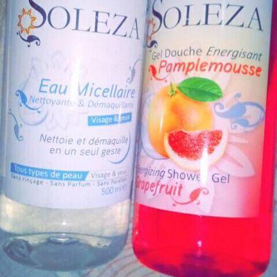 J'ai testé Le Gel de Douche et L'eau micellaire SOLEZA