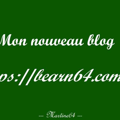 Changement de blog ...