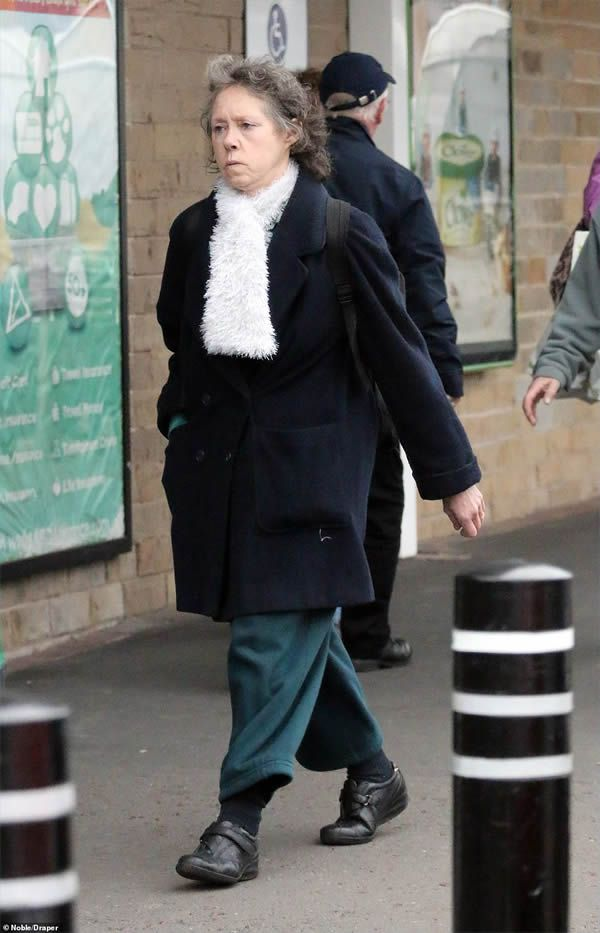 Yorkshire Ripper wife Sonia Sutcliffe is pictured wearing what looks like a wedding ring in Bradford last weekend