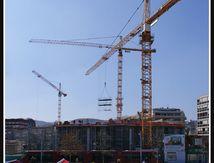 Clermont Ferrand - place de Jaude et le Carré de Jaude en construction