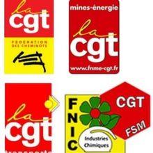 Appel des fédérations CGT cheminots, transports, énergie, chimie