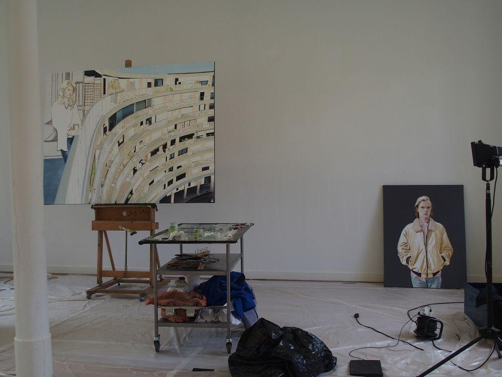 Vue de l'exposition Seuls / Ensemble © Le Curieux des arts Gilles Kraemer, visite presse de l'exposition à l'Artothèque, Espace d'art contemporain, Caen