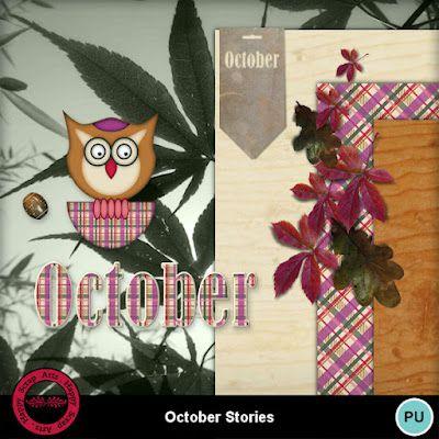 October Stories et My Memories Blogtrainde Happy Scrap Arts