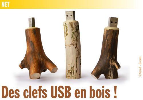 Des clefs USB en bois !