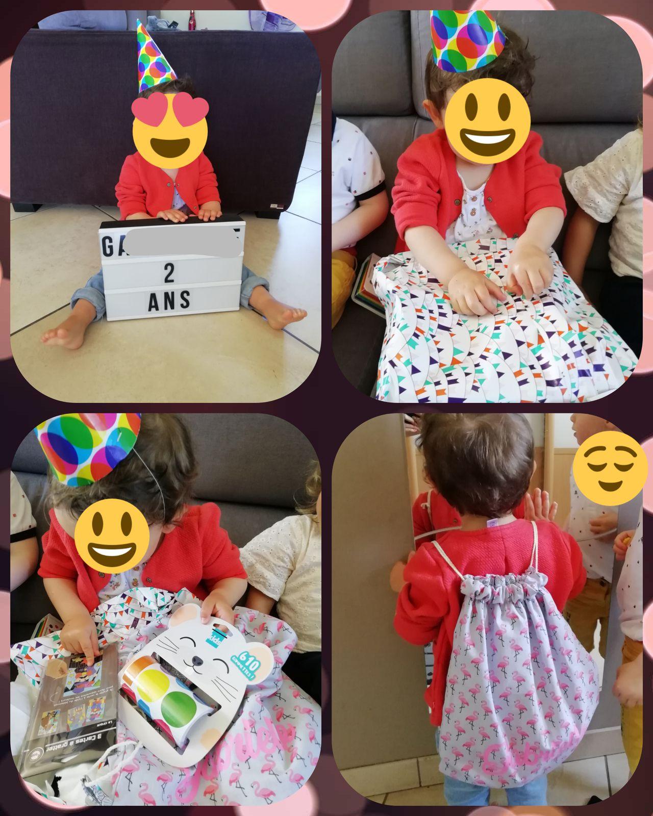 Un petit sac personnalisé fait maison et des activités à faire avec papa et maman