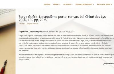 """Joseph Bodson chronique """"la neuvième porte"""" de Serge Guérit sur le site de l'AREAW"""