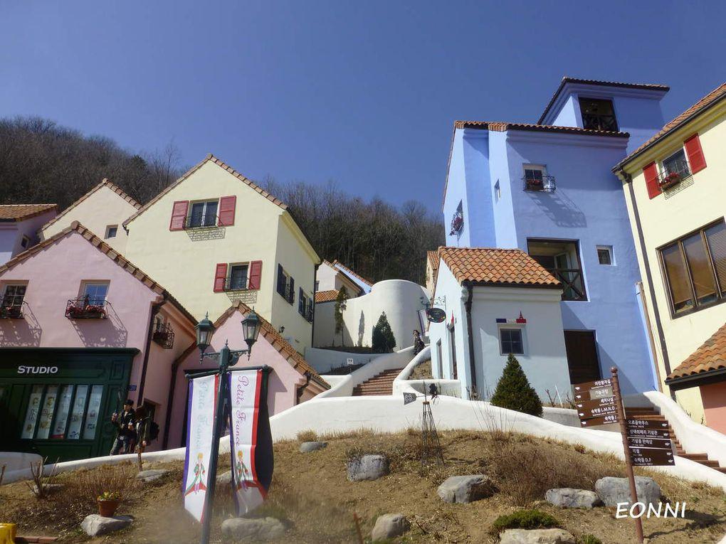 Une journée dans le village de la Petite France (쁘띠프랑스) et sur l'île de Nami (남이섬)