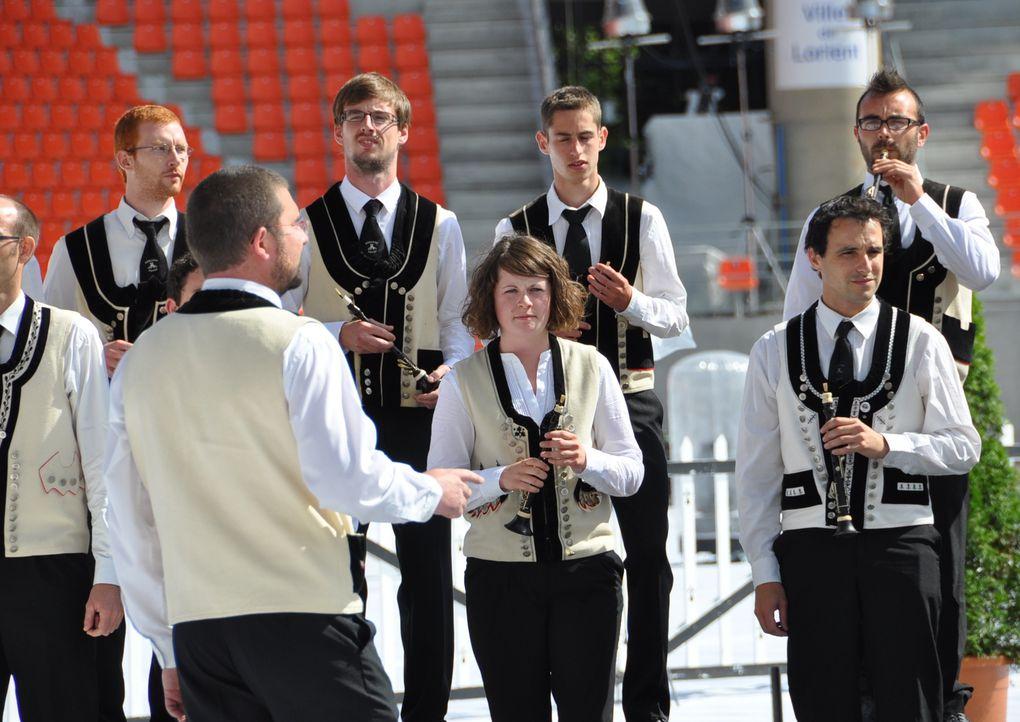 Deuxième manche du championnat des bagadoù  1ère catégorie , le 3 août 2013 à Lorient.