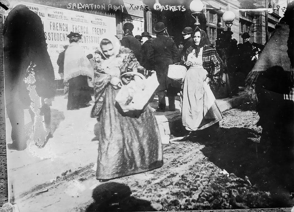 USA. La course de Noël à New Yor., Décembre 1910. Diaporama.