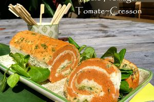 Roulé Fromager Tomate~Cresson                                       {#Foodista challenge#41}