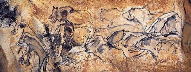 Panneaau des Lions de la grotte de Chauvet  Et si les grottes préhistoriques de Dordogne renfermaient les tout premiers « studios de cinéma » de l'histoire ! Non, preuve à l'appui, ce n'est pas du cinéma. Moteur !