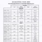 Messes de Juillet - Aout - Septembre 2014