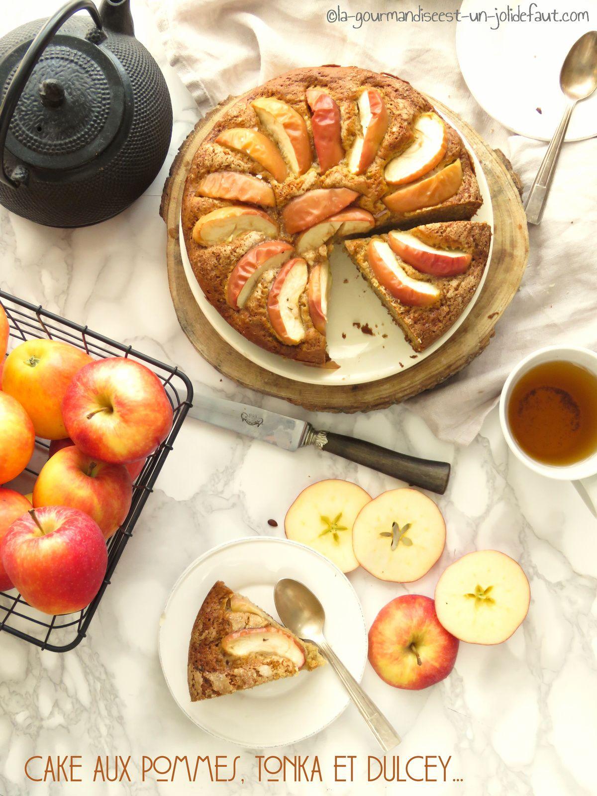 Cake aux pommes, fève tonka et dulcey
