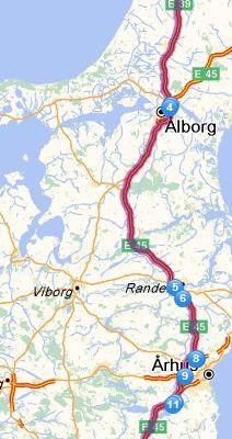 Dag 24 Kristiansand -> Hirtshals (Boot) - Hirtshals -> Billund (273.9 km)
