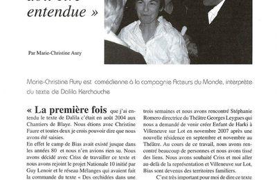 Ancrage, Mémoire des métissages du Sud-Ouest - reportage :
