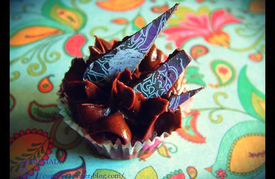 Cupcakes chocolat à la lavande {for the 4th Cupcake Day chez Dorian}