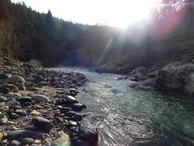 Clichés d'une rivière Ardéchoise