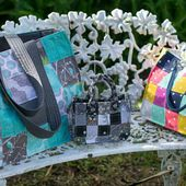 Speedy Patchwork Totes (easy sewing tutorial)