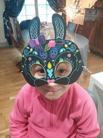 Masques à gratter - Editions Gründ - Activité manuelles enfants
