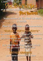 ASBl Solidamundo : 14/3/14 projection film Ruzizi Portes ouvertes