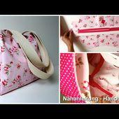 Handtasche naehen - Anleitung zum Schnittmuster - Ideale Tasche zum Einkaufsbummel