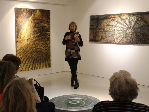 """Visite de l'exposition """"Oxymores"""" à La Galerie de la Ferme de la Chapelle, photos Copyright VIVA 2014"""