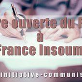 Lettre ouverte du PRCF à l'adresse de la France Insoumise . - INITIATIVE COMMUNISTE