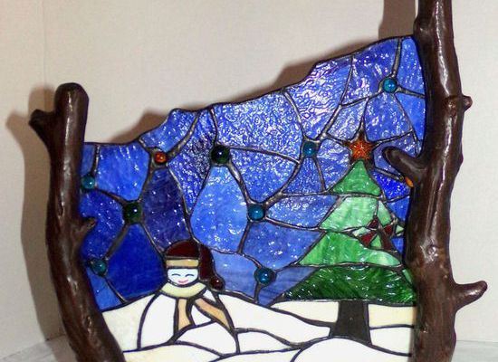 Stained Glass Snowma