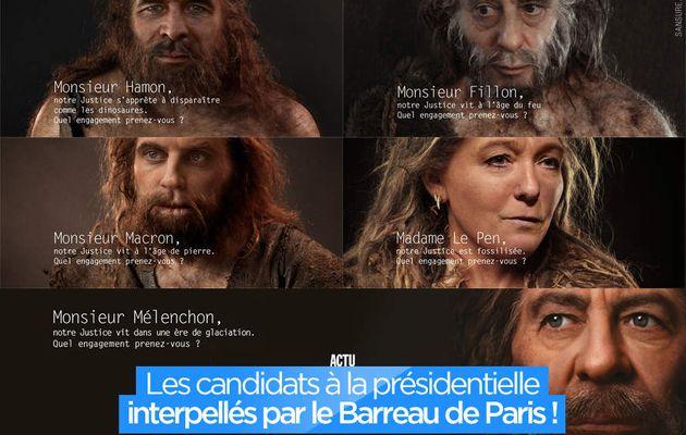 Les candidats à la présidentielle interpellés par le Barreau de Paris ! #justice