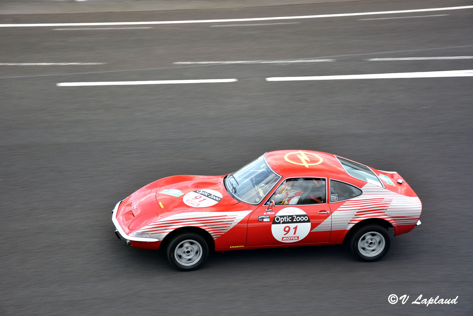 Opel 1900 GT 1972, Melina Priam et Anne-Chantal Pauwels, Charade, Tour Auto 2020.