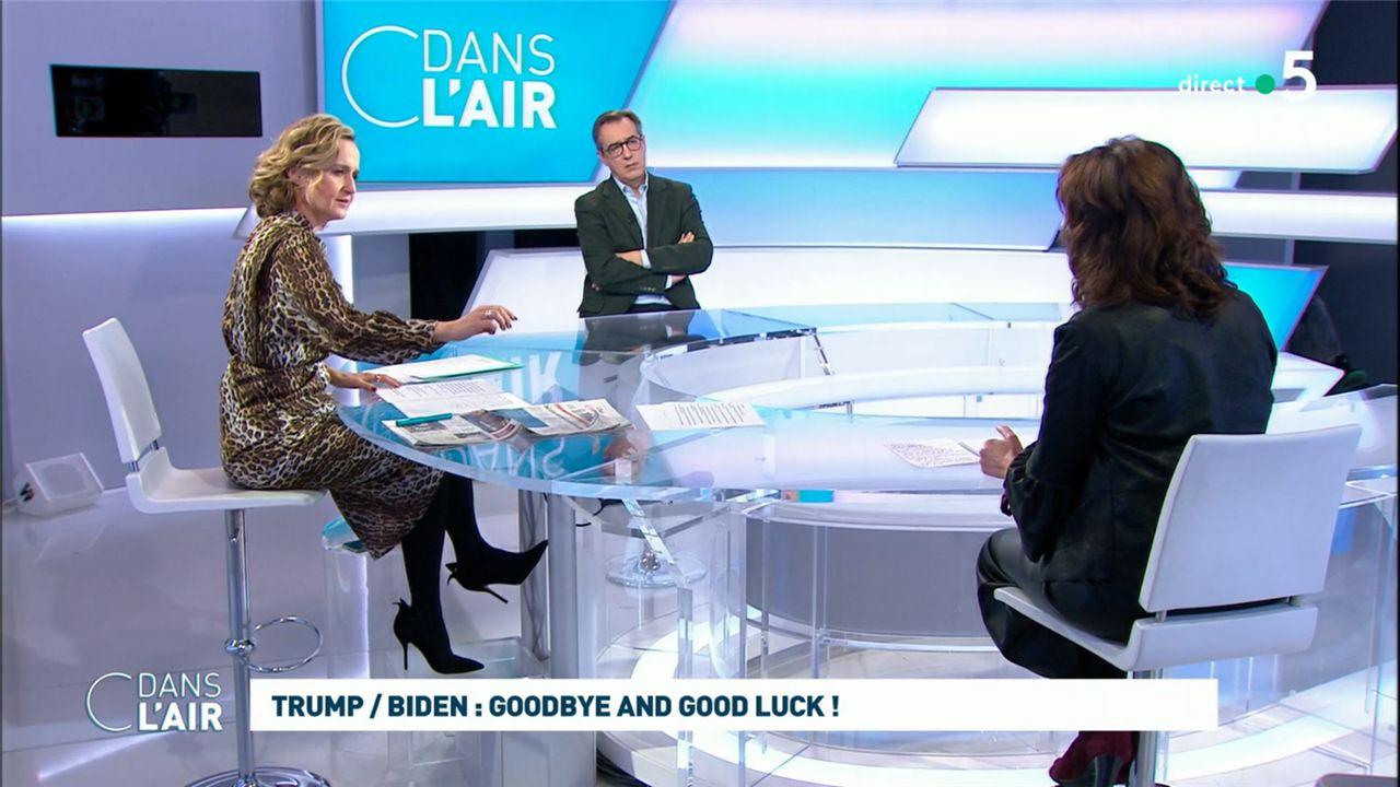 Caroline Roux C Dans l'Air France 5 le 20.01.2021
